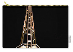 Seattle Space Needle At Night Carry-all Pouch by David Smith