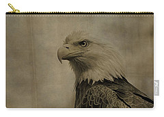 Sepia Bald Eagle Portrait Carry-all Pouch by Dan Sproul