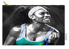 Serena Williams Ace Carry-all Pouch by Brian Reaves