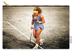 Serena Williams Count It Carry-all Pouch by Brian Reaves