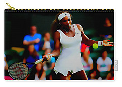 Serena Williams Making It Look Easy Carry-all Pouch by Brian Reaves