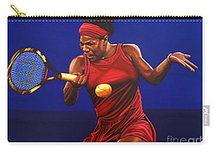 Serena Williams Painting Carry-all Pouch by Paul Meijering