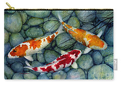 Serenity Koi Carry-all Pouch by Hailey E Herrera