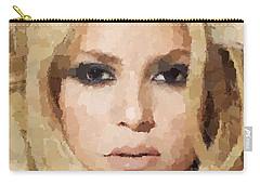 Shakira Portrait Carry-all Pouch by Samuel Majcen