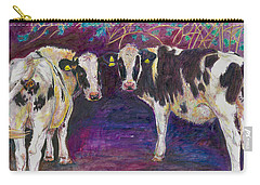 Sheltering Cows Carry-all Pouch by Helen White
