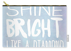 Shine Bright Blue Carry-all Pouch by Pati Photography