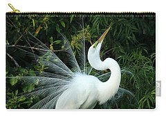 Showy Great White Egret Carry-all Pouch by Sabrina L Ryan