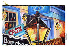 Signs Of Bourbon Street Carry-all Pouch by Diane Millsap