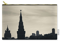 Silhouette Of Kremlin Towers, Moscow Carry-all Pouch by Panoramic Images