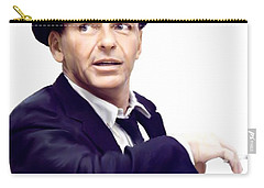 Sinatra.  Frank Sinatra Carry-all Pouch by Iconic Images Art Gallery David Pucciarelli
