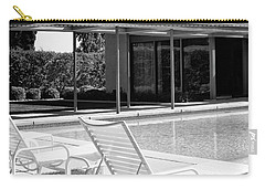 Sinatra Pool Bw Palm Springs Carry-all Pouch by William Dey