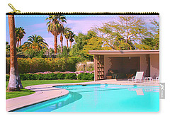 Sinatra Pool Cabana Palm Springs Carry-all Pouch by William Dey