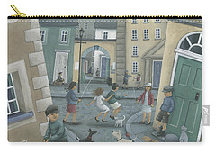 Skipping By The Green Door Carry-all Pouch by Peter Adderley