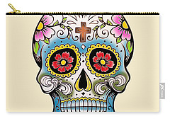Skull 10 Carry-all Pouch by Mark Ashkenazi