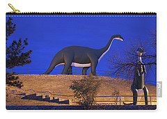 Skyline Drive Dinosaur Statues At Dawn Carry-all Pouch by Panoramic Images