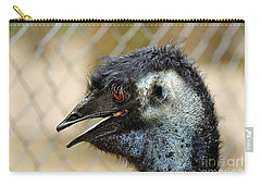 Smiley Face Emu Carry-all Pouch by Kaye Menner