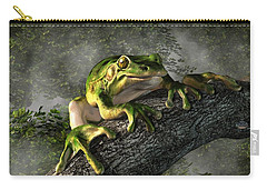 Smiling Frog Carry-all Pouch by Daniel Eskridge