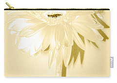 Snow Flake Zinnia Carry-all Pouch by Sherry Allen