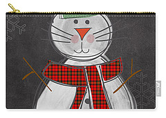Snow Kitten Carry-all Pouch by Linda Woods