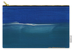 Soft Crashing Waves- Abstract Landscape Carry-all Pouch by Linda Woods