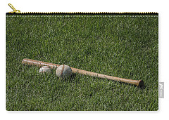 Softball Baseball And Bat Carry-all Pouch by Bill Cannon