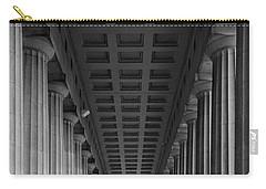 Soldier Field Colonnade Chicago B W B W Carry-all Pouch by Steve Gadomski