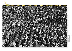 Baseball Fans At Yankee Stadium In New York   Carry-all Pouch by Underwood Archives