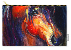Soulful Horse Painting Carry-all Pouch by Svetlana Novikova