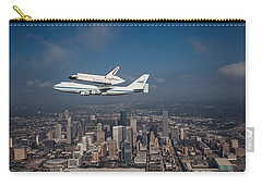 Space Shuttle Endeavour Over Houston Texas Carry-all Pouch by Movie Poster Prints