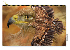 Spirit Of The Wind Carry-all Pouch by Carol Cavalaris
