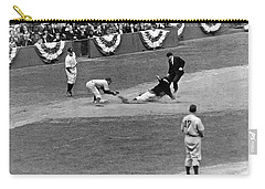 Spud Chandler Is Out At Third In The Second Game Of The 1941 Wor Carry-all Pouch by Underwood Archives