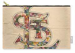 St Louis Cardinals Logo Vintage Carry-all Pouch by Florian Rodarte