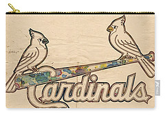St Louis Cardinals Poster Art Carry-all Pouch by Florian Rodarte