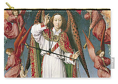 St. Michael Weighing The Souls, From The Last Judgement, C.1445-50 Oil On Panel Detail Of 170072 Carry-all Pouch by Rogier van der Weyden