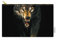 Stalking Wolf Carry-all Pouch by MGL Studio - Chris Hiett