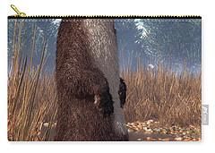 Standing Otter Carry-all Pouch by Daniel Eskridge