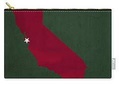Stanford University Cardinal Stanford California College Town State Map Poster Series No 100 Carry-all Pouch by Design Turnpike