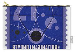 Starschips 21- Poststamp - Sputnik 2 Carry-all Pouch by Chungkong Art