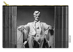 Statue Of Abraham Lincoln Carry-all Pouch by Panoramic Images