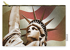 Statue Of Liberty Carry-all Pouch by Mark Rogan