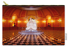 Statue Surrounded By A Railing Carry-all Pouch by Panoramic Images