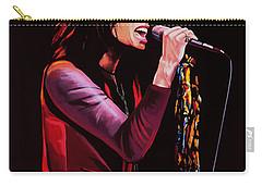 Steven Tyler In Aerosmith Carry-all Pouch by Paul Meijering
