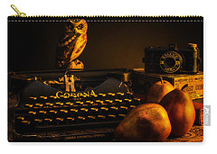 Still Life - Pears And Typewriter Carry-all Pouch by Jon Woodhams