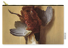 Still Life With A Hare, A Pheasant And A Red Partridge Carry-all Pouch by Jean-Baptiste Oudry