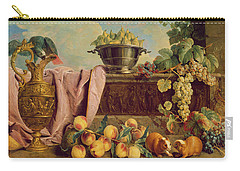 Still Life With A Jug, 1734 Oil On Canvas Carry-all Pouch by Alexandre-Francois Desportes