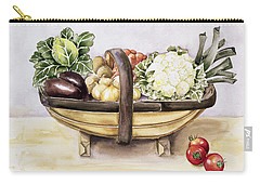 Still Life With A Trug Of Vegetables Carry-all Pouch by Alison Cooper