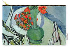 Still Life With Seagulls Poppies And Strawberries Carry-all Pouch by Ernst Ludwig Kirchner