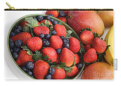 Strawberries Blueberries Mangoes And A Banana - Fruit Tray Carry-all Pouch by Andee Design