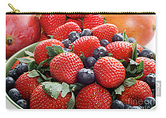 Strawberries Blueberries Mangoes - Fruit - Heart Health Carry-all Pouch by Andee Design