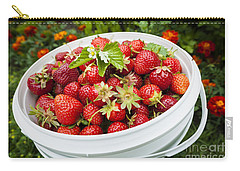 Strawberry Harvest Carry-all Pouch by Elena Elisseeva